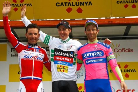 The podium l to r Rodriguez, Martin, Scarponi (image courtesy of Garmin-Sharp)