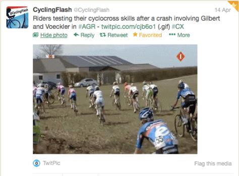 Amstel riders across field