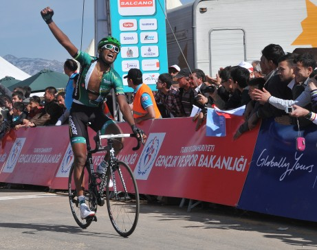 and the winner is Natnael Teweldemedhi Berhane from Eritrea (image: TUR 2013)