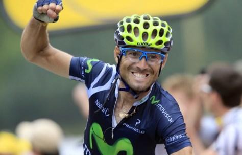 Alejandro wins in France on stage 17 (image: Movistar)