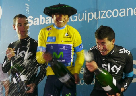 Quintana (centre) will form part of a formidable three-pronged Movistar attack (Image: Richard Whatley)