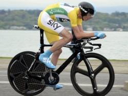 Will Froome be in yellow before or after the time-trial? (image: Sky)