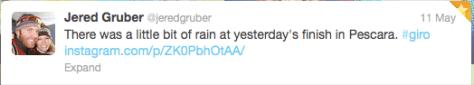 G Jered Gruber rain