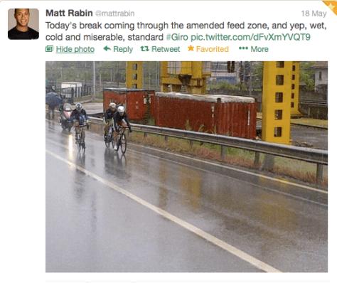 Giro weather