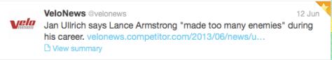 Armstrong Ullrich enemies