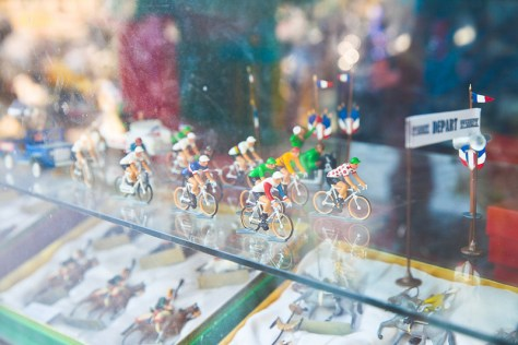 Riders in shop window - CC
