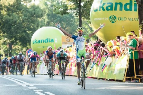 Moreno Moser takes victory on stage one (Image: Tour de Pologne)