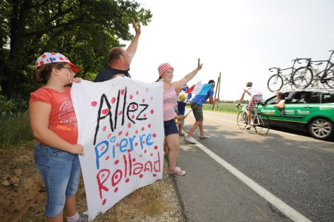 On Bastille Day, French fans hoped for a Pierre Rolland win (Image: ASO/B Bade)