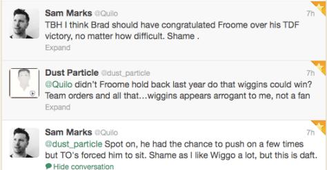 Wiggins no congrats 1