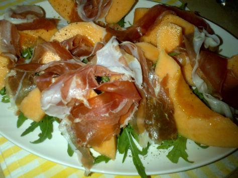 Italian Classic: Melon and Parma ham (image: Sheree)