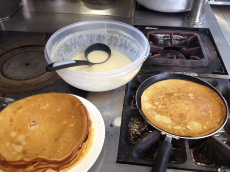 Sophie's reward for the riders and team: pancakes! (image: Sophie Chavanel)
