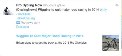 Wiggins to quit