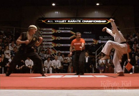 Karate Kid crane kick