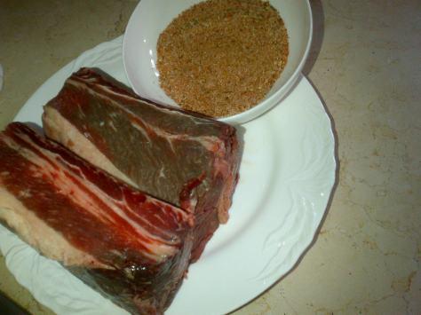 A short rib per person, plus spice rub (image: Sheree)