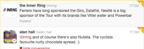 Food brand sponsors