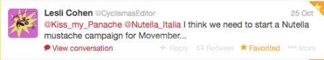 Nutella mustache