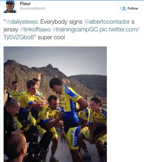 Saxo signing Bertiejersey