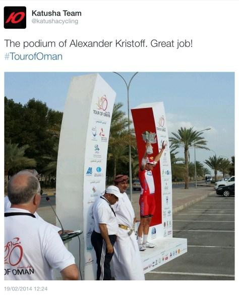Oman podium