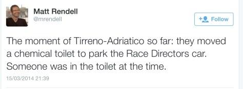 Tirreno chemical toilet