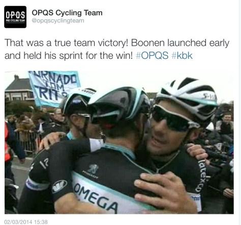 Boonen hug KBK