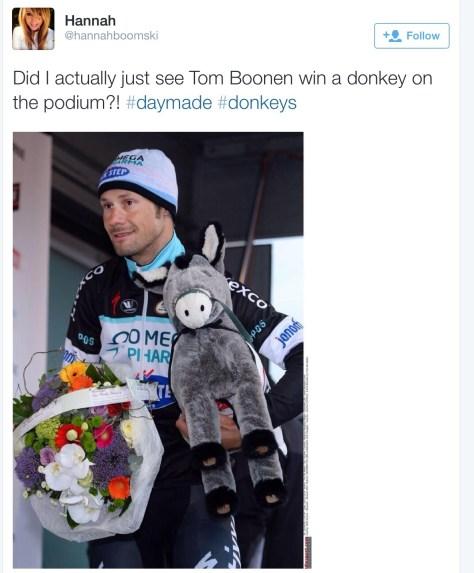 Boonen and donkey