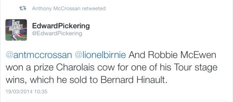 Prizes Robbie cow