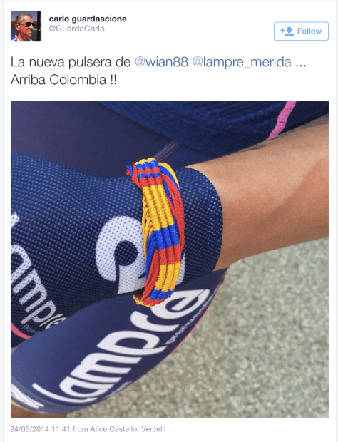 Giro colombian colours