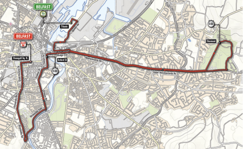 Giro 2014 Stage 1 map