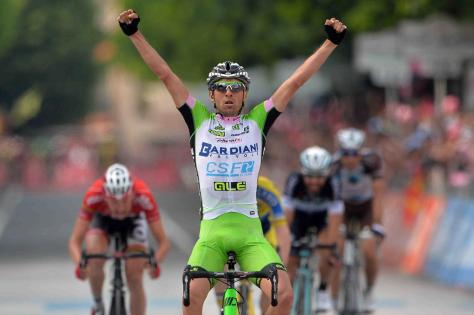 It was no coincidence Pirazzi won the stage - he would have known a breakaway winner was likely (Image: Giro d'Italia)