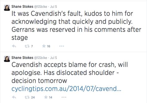 Cavendish apology