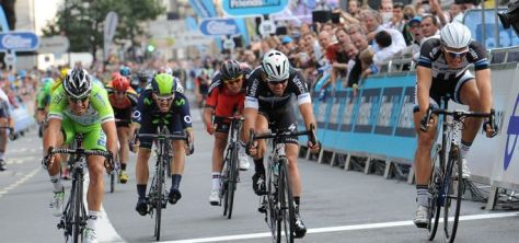 Kittel edged out Cav on the final stage (Image: Tour of Britain website)