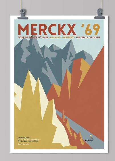 Handmade cyclist Merckx