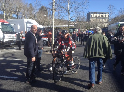 Gilbert before the start of stage 2 Tour du Haut Var (image: Sheree Whatley)