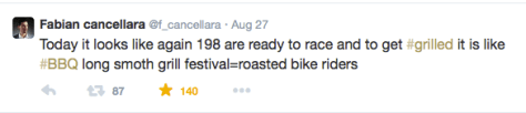 Fabianese roasted bike riders