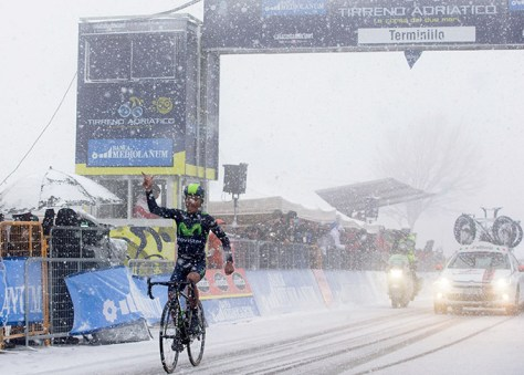 Quintana wins the queen stage (Image: Tirreno-Adriatico/Gazzetta.it)