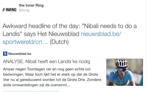 Tour Nibali Landis
