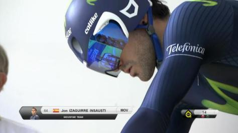 Izagirre in the final time trial (Image: Movistar/Twitter)