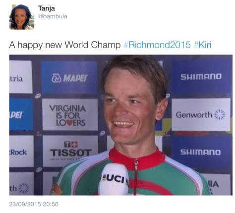 ITT podium smile