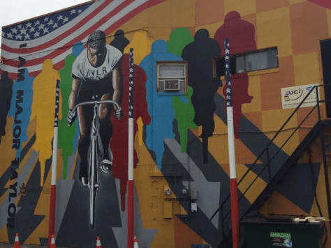 Major Taylor Mural (image: Lee Kalman)