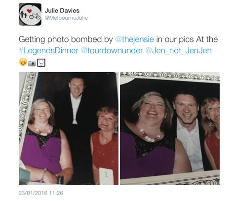 Legends Jens photobomb