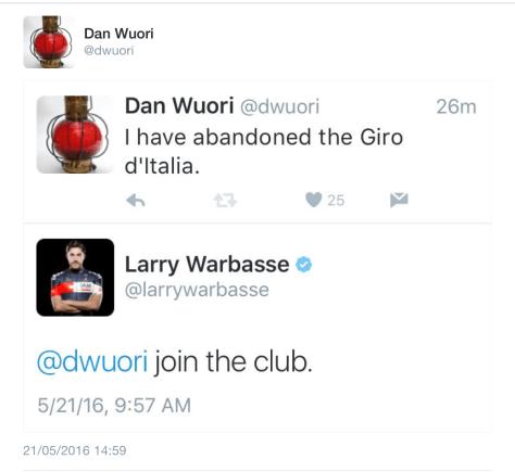 Giro abandon