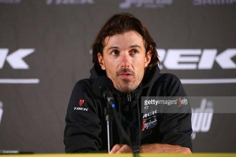 Fabian at Press Conference Team Trek - Segafredo © Tim De Waele
