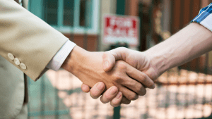 Handshake - closing a real estate deal