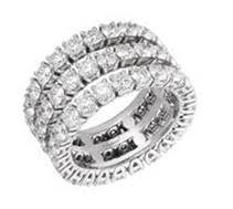"Chopard ring featuring 6.06-carats of diamonds set in 18k white gold from the ""L'Heure Du Diamant Collection"""