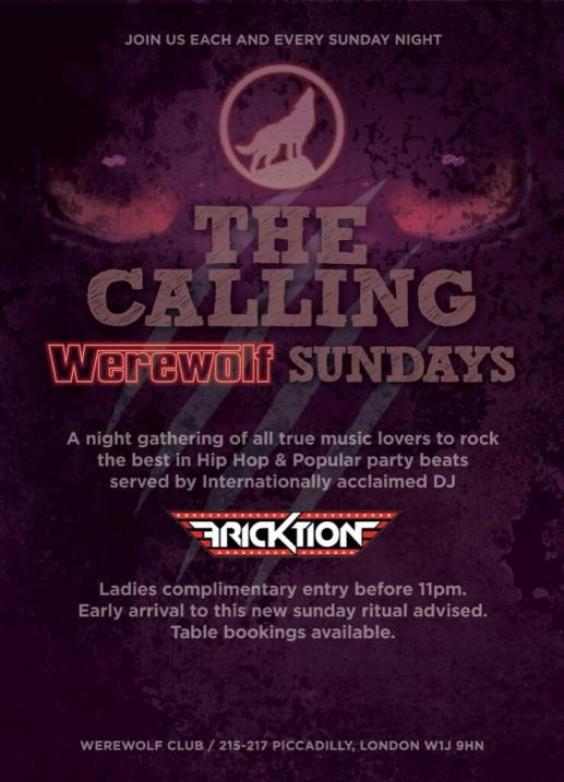 Werewolf Club Sunday