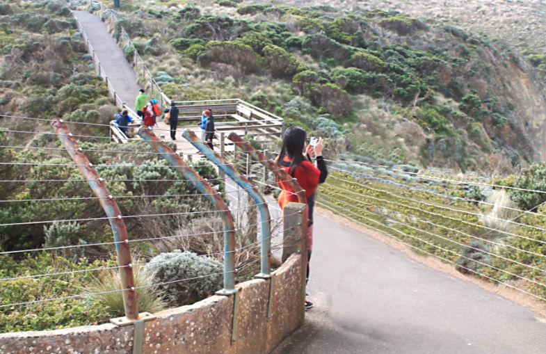 Walkway leading to the Twelve Apostles