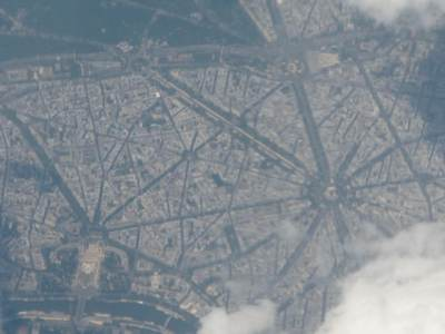 Plane views: Paris