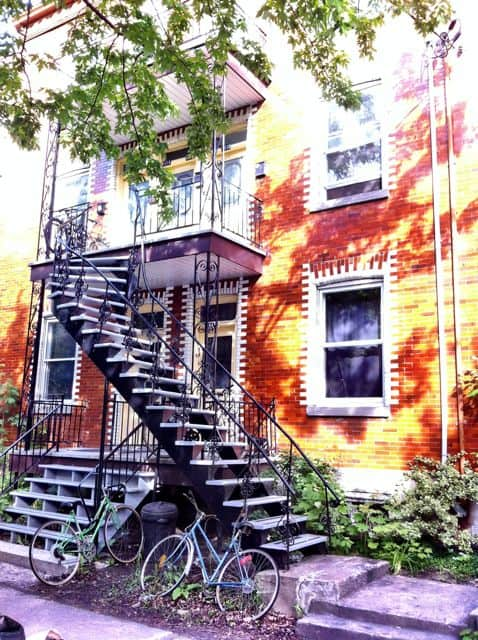 One of Montreal's many spiral staircases.