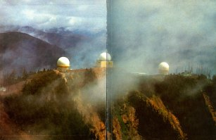 Radomes, late 1970s, taken from the Holberg Radar base's 30th anniversary book, photographer unknown