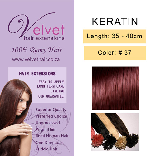 Keratin Hair Extensions - Color #37 by Velvet Hair Extensions